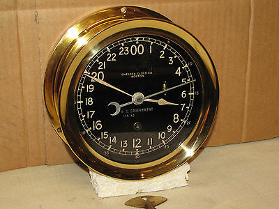 "Chelsea Military Ships Clock~6 In""~Circa 1954~Missle Silo~Korean War~24Hr Dial"