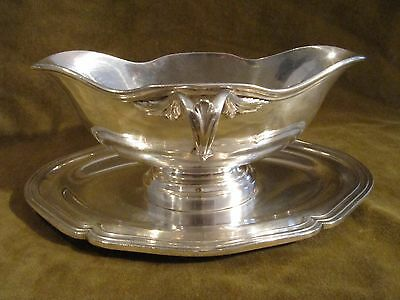 early 20th c french silverplate christofle sauce boat Louis XV st