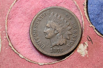 1876 USA Indian Head Bronze Cent. KM#90a.