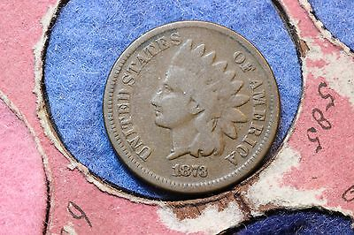 1873 USA Indian Head Bronze Cent. KM#90a.