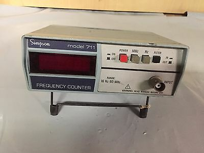 Simpson Model 711 Frequency Counter