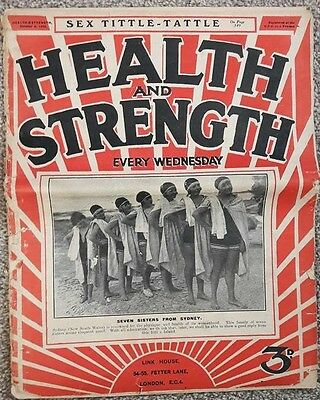 Vintage Health And Strength Magazine 9 October 1926