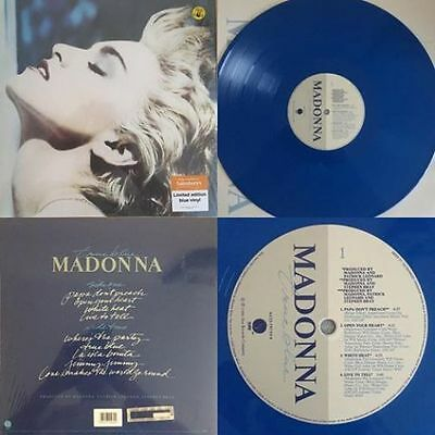 TRUE BLUE 2016 OFFICIAL MADONNA UK BLUE COLOUR LP VINYL SEALED NEW with POSTER