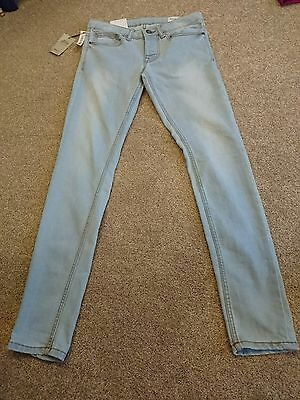 Brand New Mens Super Skinny Light Blue Jeans W30/L32 - Never Worn!