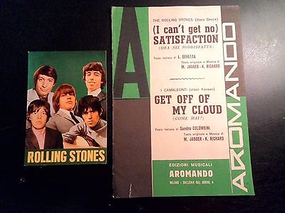 Rolling Stones - Get off of my cloud spartito + cartolina music sheet + postcard