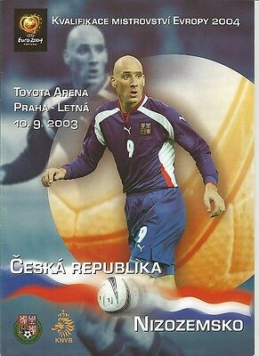 CZECH REPUBLIC v HOLLAND NETHERLANDS NEDERLAND  2003