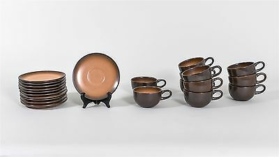 Nice Heath Set of 11 Mugs and 11 Saucers from the 1960s [22 pieces in total] MCM