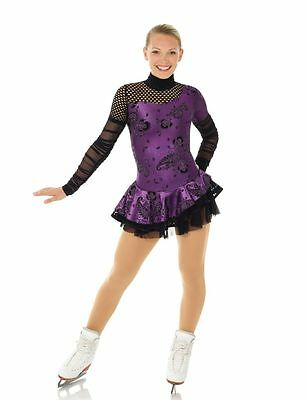 New Competition Skating Dress MONDOR 1292510 Cabaret Purple AS Adult Small