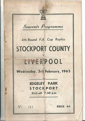 STOCKPORT COUNTY v LIVERPOOL 1964/65  FA CUP
