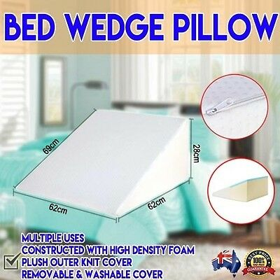 Memory Foam Bed Wedge Pillow Cushion Neck Back Support Rest Home Sleep Cool Gel