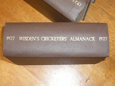 1927 WISDEN rebound both original wrappers covers highly collectible condition