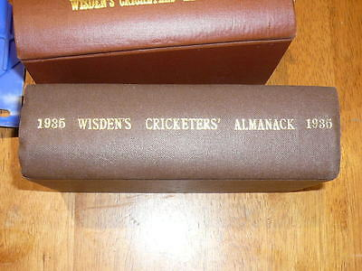 1935 WISDEN rebound both original wrappers covers highly collectible condition.