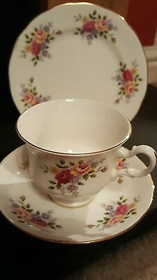 beautiful  royal kent tea cup , saucer & side plate excellent condition c1960s