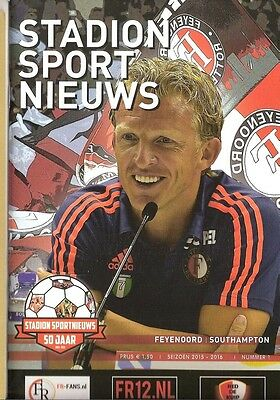 FEYENOORD v SOUTHAMPTON 2015/16 Friendly STADION Issue