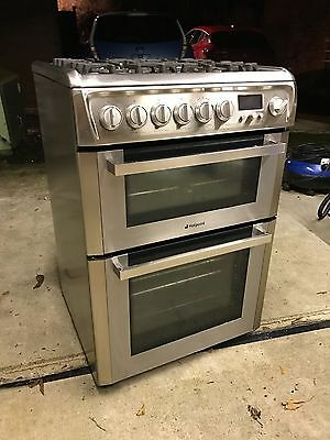 Hotpoint EG94X Dual Fuel (gas electric) 600mm Stand-alone Cooker and Double Oven