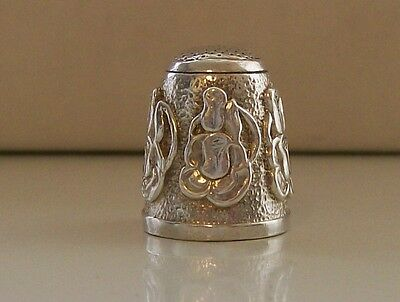 Stunning Solid Heavy Silver Thimble, Weight Approx: 18 Grams, Fully Hallmarked
