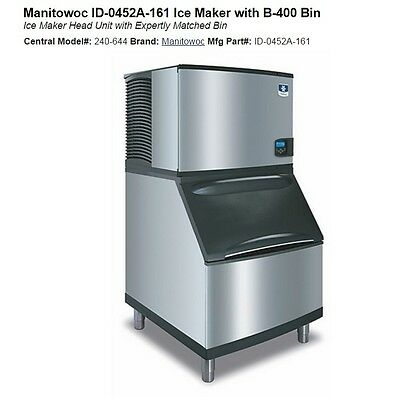 Manitowoc Ice Maker ID-0452A-161 with Bin Used, 90% New
