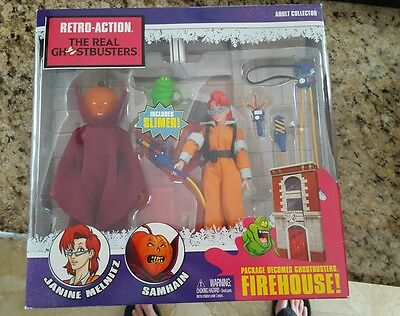 Retro Action The Real Ghostbusters Janine Melnitz Samhain Slimer Action Figure