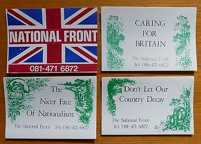 National Front - Rare Original Stickers from mid 90's