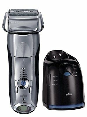 Braun Series 7 790cc-4 Mens Electric Foil Shaver Clean & Charge Station Cordless