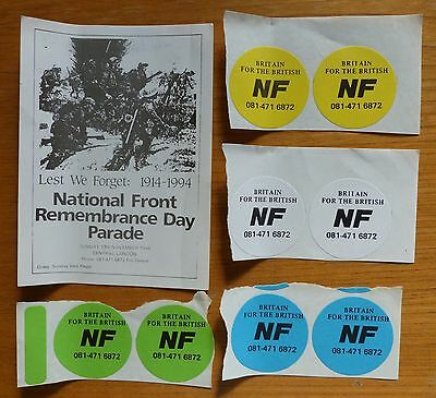 National Front - Rare Original Stickers from early 90's