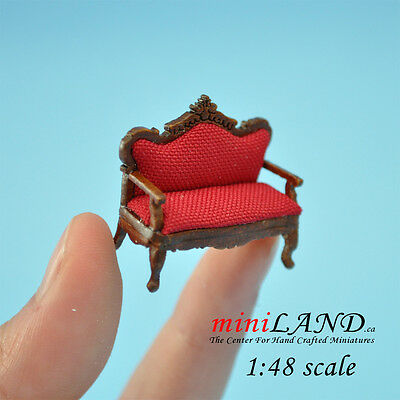 1:48 Scale Victorian red Sofa for living room Top Quality 1/48