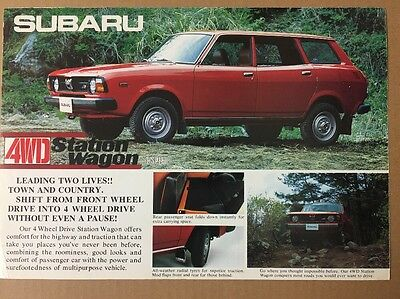 Car Brochure - 1977 Subaru 1600 4WD Station Wagon - Japan Export