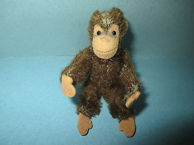 "Early Antique Vintage German Steiff 3"" Monkey Chimp Moveable Arms and Legs NM"