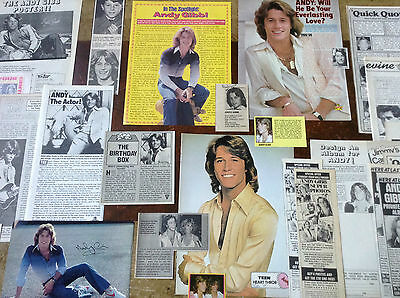 Lot Vintage Clippings ~ ANDY GIBB ~ BEE GEE Brother ~ Original Pics