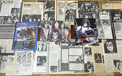 Lot Vintage Clippings ~ KISS ~ GENE SIMMONS * PAUL STANLEY * PETER CRISS * ACE