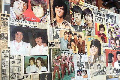 LG Lot Vintage Clippings ~ THE OSMONDS ~ OSMOND BROTHERS ~ DONNY MERRILL JAY