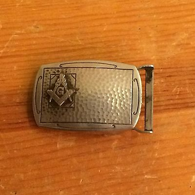 Masonic Masons Vintage 50s Silver Freemasons Belt Buckle