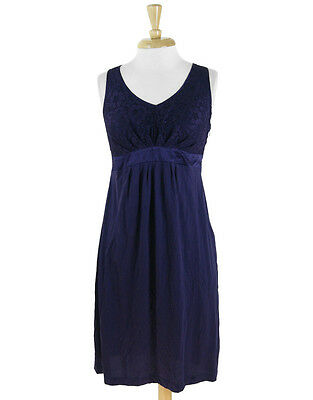 A Pea In The Pod Plum Lace Bodice Tie Back Stretch Maternity Dress Size S