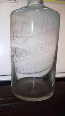 Watsons Pure Glycerine Matchless Cleanser Soap Works Leeds Acid Etched Bottle