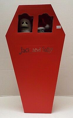 Nightmare Before Christmas Santa Jack & Sally Coffin Collection Dolls / New