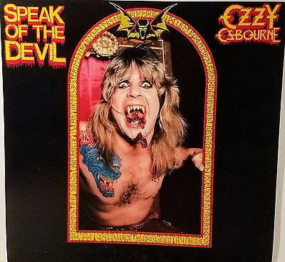 OZZY OSBOURNE 'Speak Of The Devil' Promo album flat suitable for framing