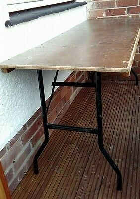 3 X 6 ft  strong wooden tables metal foldable legs