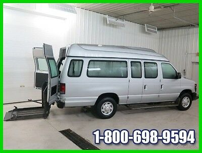 2012 Ford E-Series Van Braun Commercial Handicap Accessible Van 58k Miles E250 Silver Wheelchair Lift Passenger Wheel Chair Handicapped High Roof Extended