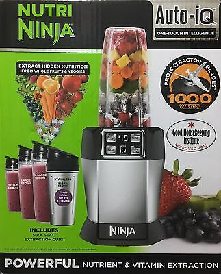 Nutri Ninja BL480UK with Auto IQ 1000W Extraction Blender with 4 Cups BRAND NEW!