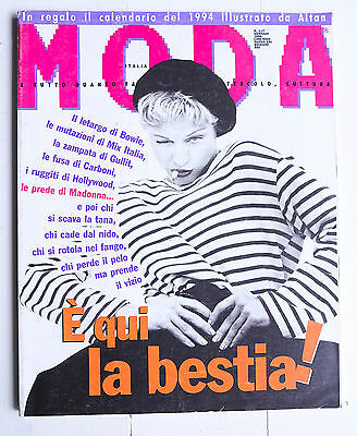 MODA Italia January 1994 MADONNA Nirvana Kurt Cobain DAVID BOWIE magazine