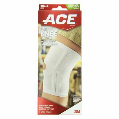 Ace Knitted Knee Brace With Side Stabilizers, Lateral Support, Small (Pack Of 3)