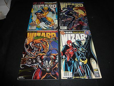WIZARD THE COMICS MAGAZINE Lot of 4 Mar Aug 1995 Aug Sept 1999