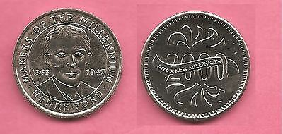 Henry Ford Sainsburys Makers of the Millennium coin / token / medal.