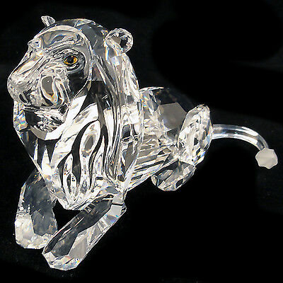 "THE LION Swarovski Silver Crystal 2.75""tall NEW IN BOX Inspiration Africa Series"