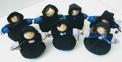 Lot of 7 Amish Style Woman Doll Handmade Door Stops