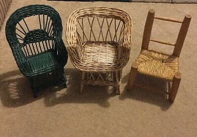 3 Doll Posing Chairs