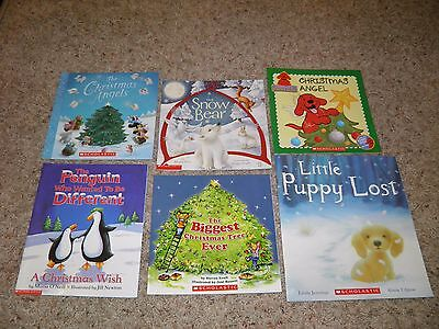 Lot of 6 Winter/Christmas Books- Paperback- NEW!
