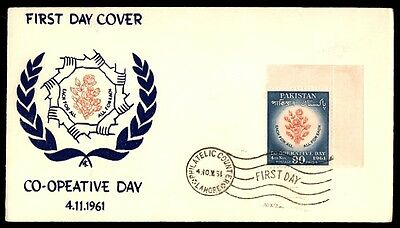 Pakistan Each For All 1961 90 Paisa Corner Single First Day Cover FDC