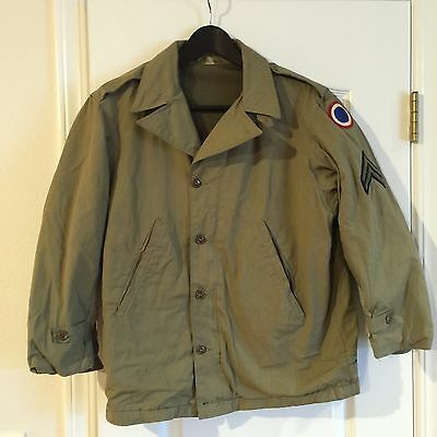 WWII Patched M41 Field Jacket In Excellent Condition