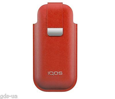 Personalize iQOS Colored Leather Pouches RED